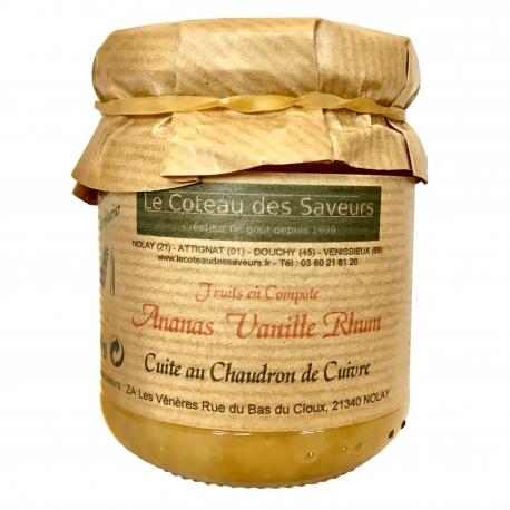 Compote ananas/vanille/rhum