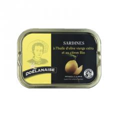 Sardines à l'huile d'olive vierge extra et citron Bio