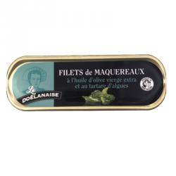Filets de maqueraux à l'huile d'olive vierge extra et au tartare d'algues