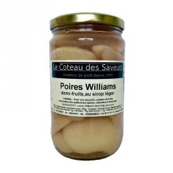 Poires Williams 1/2 fruits au sirop léger