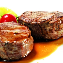 Rumsteck façon tournedos